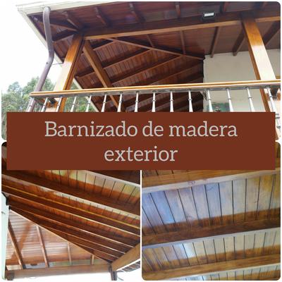 Barnizado de madera exterior