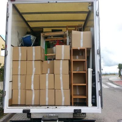 colocacion de cajas