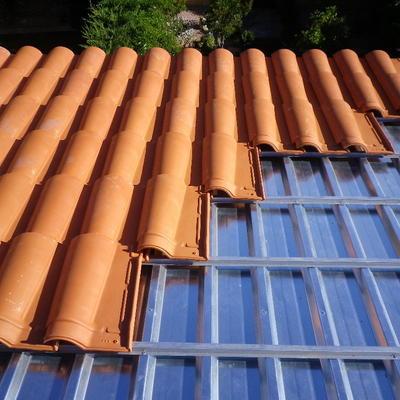 Reforma tejado con teja tipo mixta