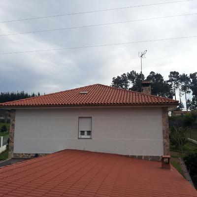 Colocacion de tejado en abegondo