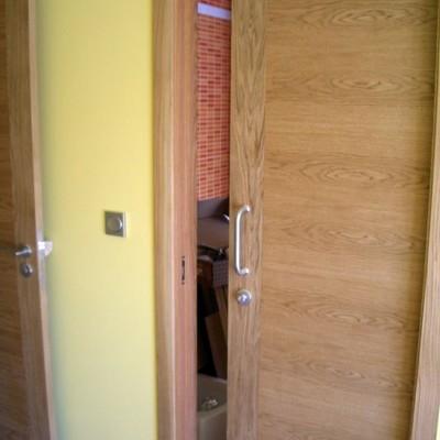 colocación puerta corredera
