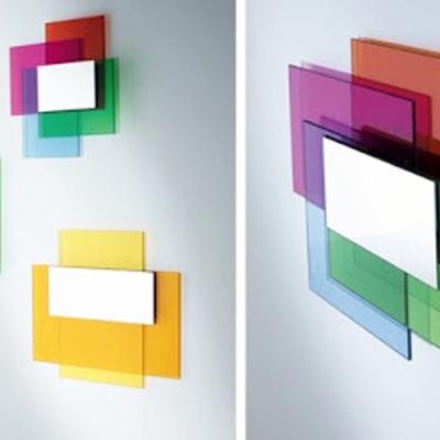 Composicion cristales de colores