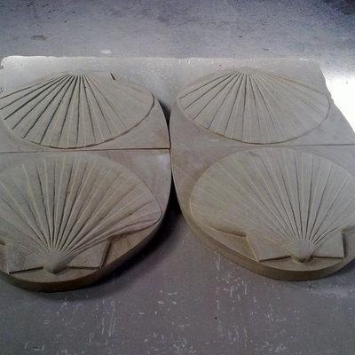 Conchas - piezas ornamentales