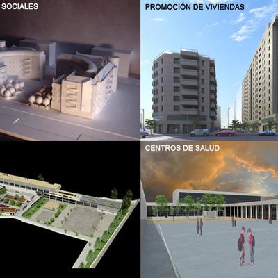 Edificios de viviendas, hoteles, colegios