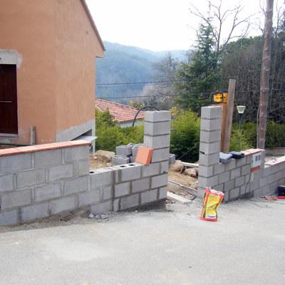 construccio de un muro