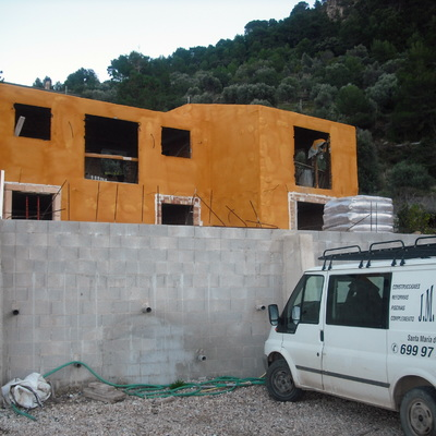 construccion de chalet de construcciones y piscinas jm rustic