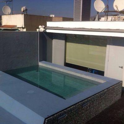 Construcción piscina en ático de Barcelona