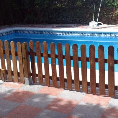 Construcción y vallado piscina