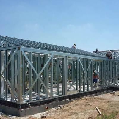 casa de construcción de edificios de acero en 6 semanas