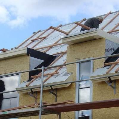 techado de una casa prefabricada
