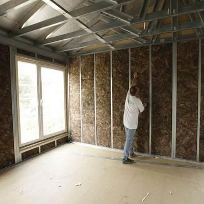 expansión en el interior de casas prefabricada