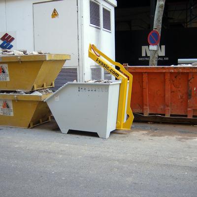 Contenedor de obra basculante de 1,2 m3