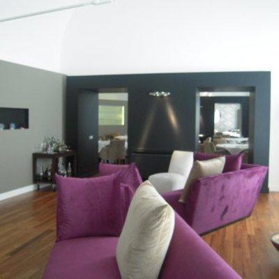 contraste de paredes con colores fuertes