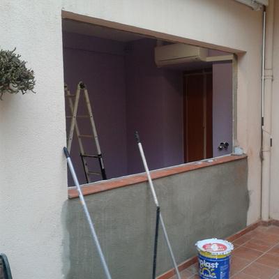 Conversión de puerta a ventana, El Masnou.