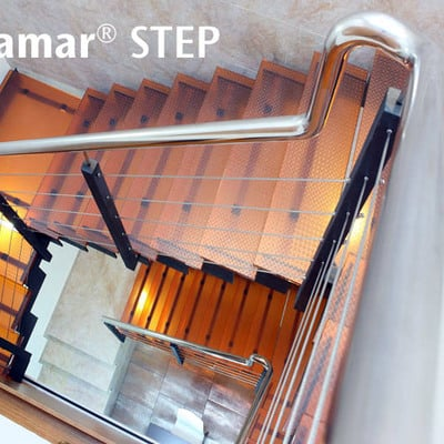 CriSamar STEP, vidrio pisable antideslizante