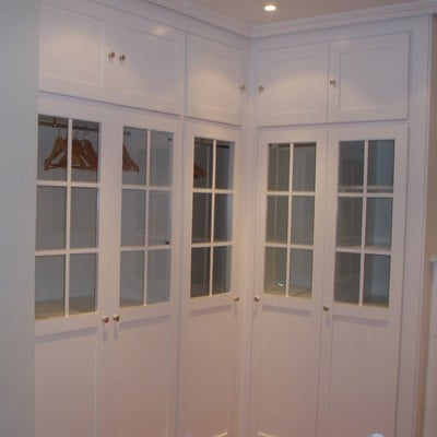 frente lacado blanco, panel lacado blaco con cristal transparente
