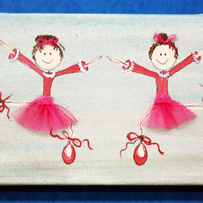 Cuadro infantil de bailarina