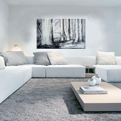 Cuadro paisaje en blanco y negro