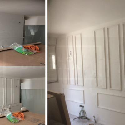 Decoración paredes con escayola