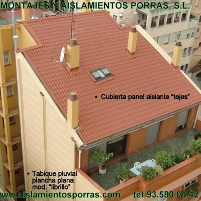 "CUBIERTA AISLANTE DE PANEL TERMICO ""Tejas"""