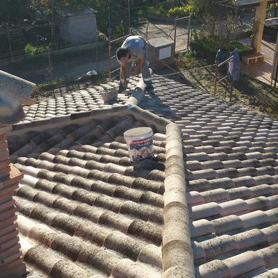 cubierta de teja cerámica