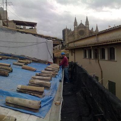 cubirta de teja y fachadas