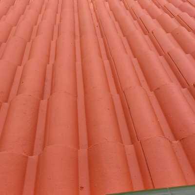 Impermeabilización de tejas con pintura clorocaucho color tejas