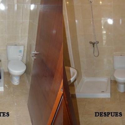 Limpieza después reforma baño