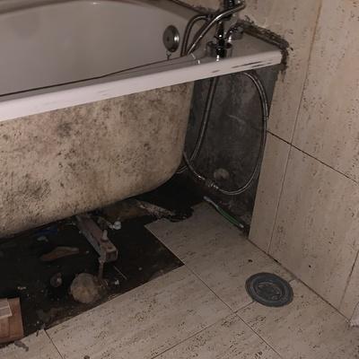 Reforma de baño así estaba