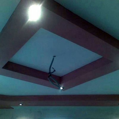 Decoración con pladur. Lámpara de techo