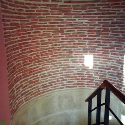 decoracion rustica en escalera