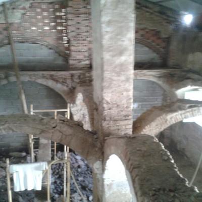 Demolicion de bóvedas arista.