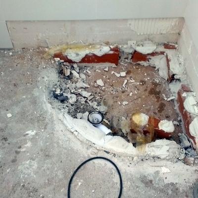 demolición de plato de ducha