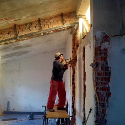 Demolición muro