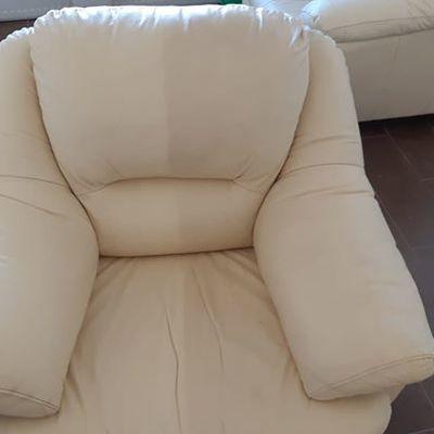 Demostración de limpieza del sillón