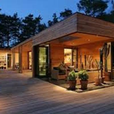 Casa madera minimalista
