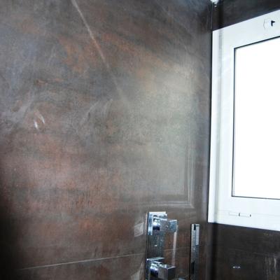 Detalle ducha integrada