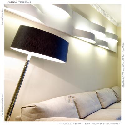 Detalle luminaria salón - Residencia particular