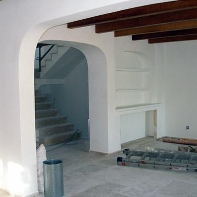 detalle mueble obra y arco separador