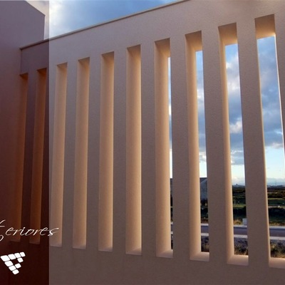 Detalle pequeña terraza en planta 1ª vivienda Albal