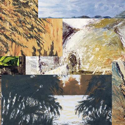 Detalle trabajos y técnicas varias de pintura.
