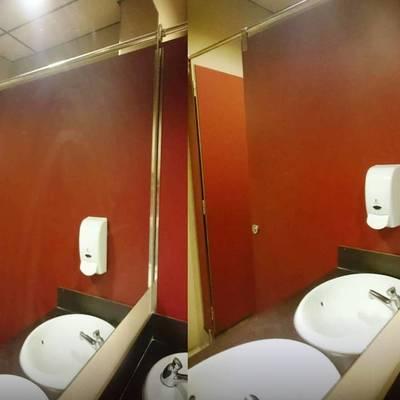 Limpieza de baños de gimnasios