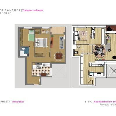 Propuesta de diseño de apartamento en Torrelavega