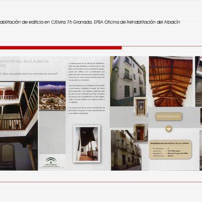 Rehabilitación de edificio en C/Elvira 76. Granada