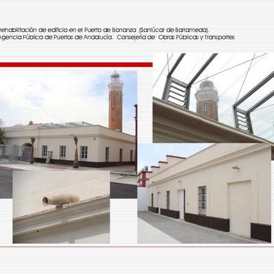Rehabilitacion de edificio en el Puerto de Bonanza para Oficinas. Sanlúcar de Barrameda (Cádiz).