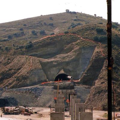 Dirección topográfica en un túnel