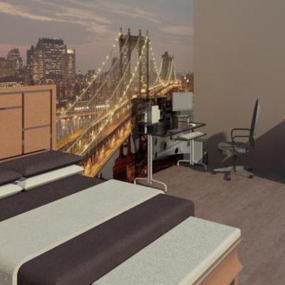 Diseño 3D dormitorio juvenil