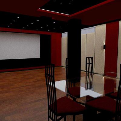 Diseño de Cine en vivienda unifamiliar