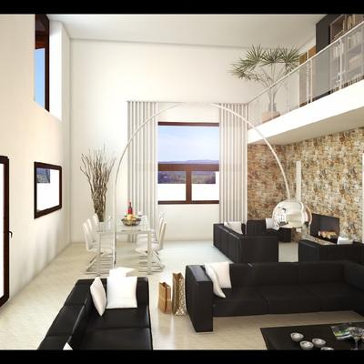 Diseño en 3d del salón