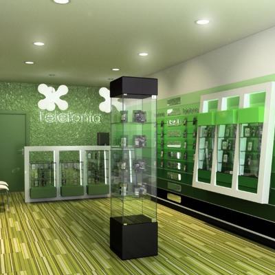 Diseño interiorismo de tienda telefonia móvil para red nacional